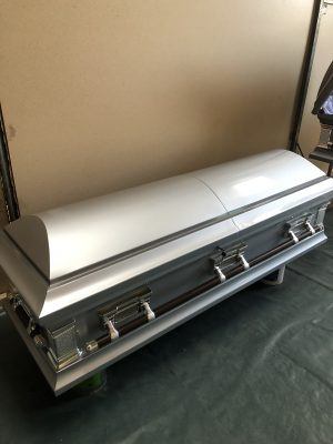 Steel Casket (Silver with blue)
